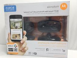 NEW MOTOROLA Wi-Fi Home Video Monitoring with 2 Cameras NIB