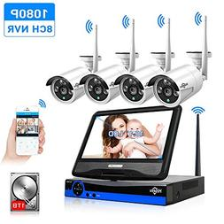 """All in one with 10.1"""" Monitor Wireless Security Camera Syste"""