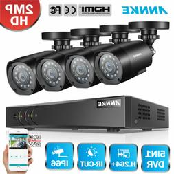 ANNKE 8CH 1080P HDMI DVR 2MP IR CCTV Surveillance Security C
