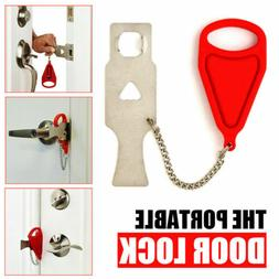 Portable Door Lock Hardware Safety Security Tool for Home Pr
