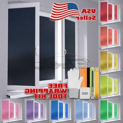 *Premium Color Frosted Film Glass Home Bathroom Window Secur