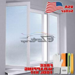 *Premium Frosted Film Glass Home Bathroom Window Security Pr