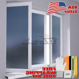 *Premium Gray Frosted Film Glass Home Bathroom Window Securi