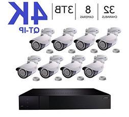 Q-See 4K  QT-IP Kit Eight Camera with NVR IP Ultra-HD 32-Cha