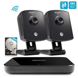 Zmodo Replay 720p 4CH NVR 2 Indoor Wireless Two-Way Audio Ca