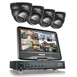 """Sannce 8CH 720P Security DVR with Build-in 10.1"""" LCD Monitor"""