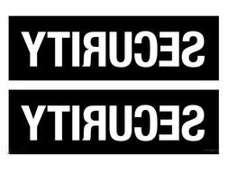OLS Studios Security Set of 2 - Sticker Vinyl Decal Car Bump