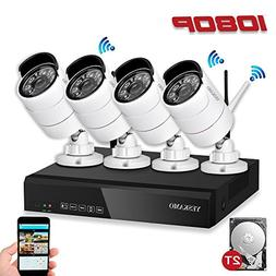 Security Camera System Outdoor YESKAMO Wireless Home Securit