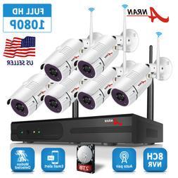 ANRAN Security Camera System Wireless 1080P HD 4 6 8 PCS IP