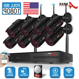 ANRAN Home Wireless Security Camera System 1080P Outdoor 2TB