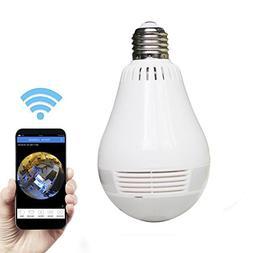 security camera wireless light bulb hidden video 360 degree