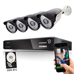TIGERSECU Full HD 1080P 8-Channel Video Security Camera DVR