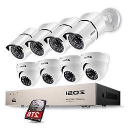 ZOSI Full 1080p HD 8-Channel Video Security System DVR with