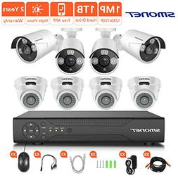 HD Security Camera System,SMONET 8CH 1080N Home Security Sy