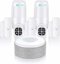 Security System, WiFi Alarm System 8 Piece kit with APP Push