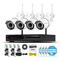 Security Camera System Wireless, Jennov 4 Channel Wireless W