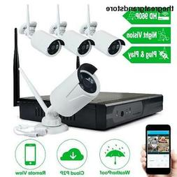 JOOAN Security Camera System Wireless with 4 X 1080P IP Came