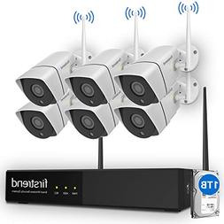 Security Camera System Wireless, Firstrend 8CH 1080P Securi