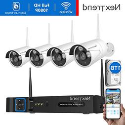 1080P Security Camera System Wireless, NexTrend 8CH 1080P N