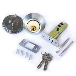 Single Cylinder Deadbolt Lock Security Home Entry Handle Doo