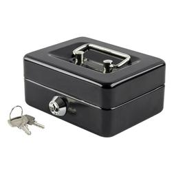 Small Security Cash Box With Key Portable Safe Money Jewelry
