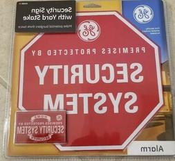 GE Smart Home Security Sign Yard Stake and Window Decals New