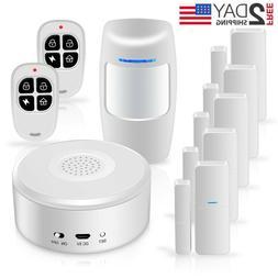 Smart Security System DIY No Monthly Wifi Alarm Kit  APP Pus
