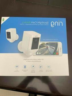 Ring Spotlight Cam Battery Outdoor HD Security Camera & Spot