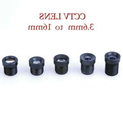 Surveillance CCTV 3.6mm 6mm 8mm 12mm 16mm CS Mini Lens Fixed