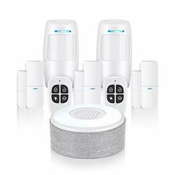 Thustar Security System, WiFi Alarm System 8 Piece kit with