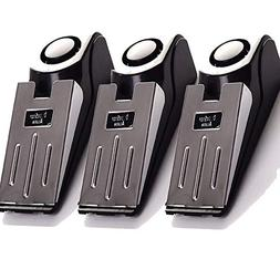 3-Pack Upgraded Door Stop Alarm -Great for Traveling Securit