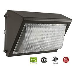LED Wall Pack with Dusk-to-dawn Photocell, 60W Waterproof Ou