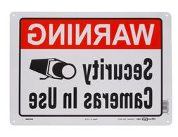 Warning Security Cameras In Use Aluminum Metal Sign Home Vid
