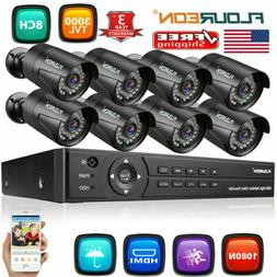 Waterproof 8CH 1080N HDMI DVR 3000TVL IR Bullet CCTV Home Se