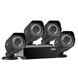 SHO 4 Pack 720P HD Weatherproof sPoE Security Camera w/8CH s