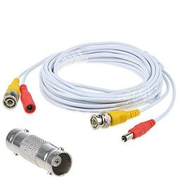 AT LCC 25ft White Extention Power/Video Cable for Swann Secu