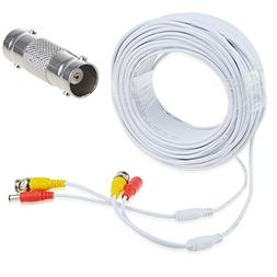 AT LCC 150ft White Video and Power BNC Cable for CCTV Securi