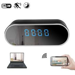 KAMRE WiFi Hidden Spy Camera Clock 12 Hour System,Full HD 10