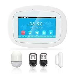 BIBENE 3G WIFI Home Security Alarm System with 4.3'' Touch S
