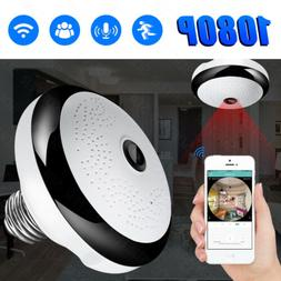 wifi ip camera light bulb 360 panoramic
