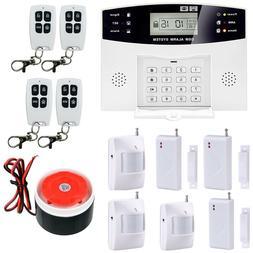 Wireless 108Zones GSM PIR Home Security Burglar Alarm System
