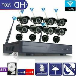 Wireless 8CH VGA NVR In/Outdoor HD IR-CUT Wifi Camera Home S
