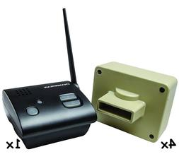 Wireless Alarm 4 Sensors Home Safety Security System Motion