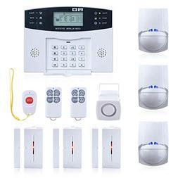 Wireless Burglar Alarm System GSM Smart LCD Voice Anti-theft