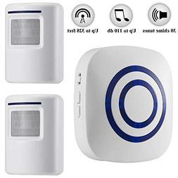 Weefun Wireless Driveway Alarm,Home Security Motion Sensor A