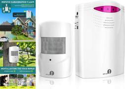 1Byone Security Wireless Driveway Alarm Doorbell Garage Moti