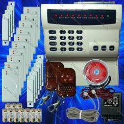 WIRELESS HOME SECURITY SYSTEM - LED BURGLAR FIRE ALARM HOUSE