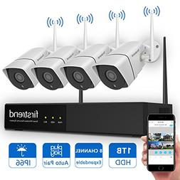 Security Camera System Wireless, Firstrend 8CH HD Wireless S