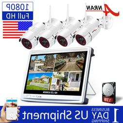 ANRAN Wireless Security Camera System 1080P 1TB Hard Drive H