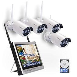 All in one with Monitor Wireless Security Camera System WiF